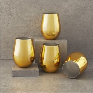 Stemless wine tumbler set